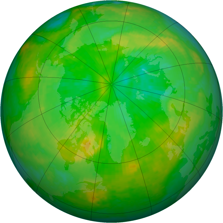 Arctic ozone map for 04 July 2004